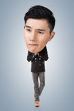 Funny Asian big head man Stock Photo