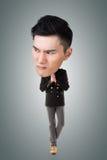 Funny Asian big head man Royalty Free Stock Image