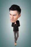 Funny Asian big head man Stock Image