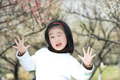 Funny asian child Royalty Free Stock Photo