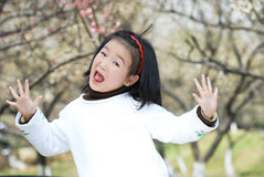 Funny asian children Stock Photos