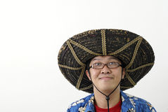 Funny asian man  Royalty Free Stock Image