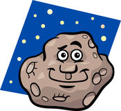 Funny asteroid cartoon illustration Stock Photos