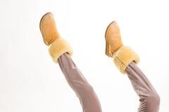 Funny Australian women's boots. Royalty Free Stock Photography