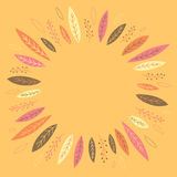 Funny autumn leaves forming a wreath Royalty Free Stock Image