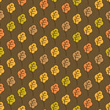 Funny autumn oak leaves seamless pattern Royalty Free Stock Images