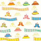 Funny baby accessories seamless  pattern Stock Images