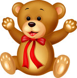 Funny baby bear cartoon Royalty Free Stock Image