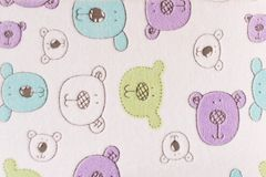 Funny baby blanket . Background of baby blanket.  Stock Photos