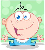 Funny Baby Boy With Open Arms. Cartoon Character Stock Photos