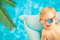 Funny baby boy on summer vacation Royalty Free Stock Images