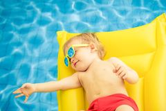 Funny baby boy on summer vacation royalty free stock photo