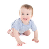 Funny baby boy toddler isolated on white Stock Image