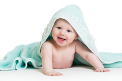 Funny baby boy in towel Royalty Free Stock Photography