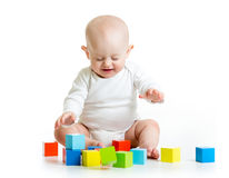 Funny baby building block toys Stock Image