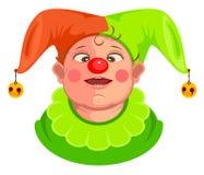Funny baby clown head Stock Photography