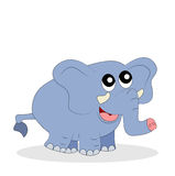 Funny baby elephant on a white background Royalty Free Stock Photos