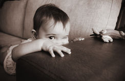 Funny Baby Girl Stock Images