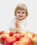 The funny baby girl Stock Photo