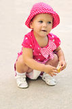Funny baby girl Royalty Free Stock Images
