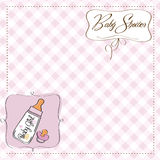 Funny baby girl announcement card Royalty Free Stock Photography