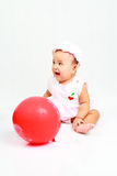 Funny baby girl. Cute baby girl looks so happy Stock Photos