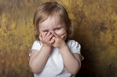 Funny baby girl Stock Photography