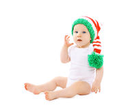 funny baby in the hat gnome Stock Images
