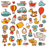 Funny baby icons. Royalty Free Stock Photography