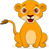 Funny baby lion Stock Photo