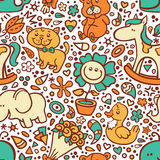 Funny baby pattern. Royalty Free Stock Images