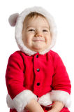 Funny baby in Santa Claus clothes Royalty Free Stock Image