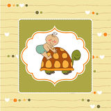 Funny baby shower card Royalty Free Stock Images