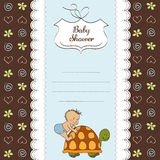 Funny baby shower card Royalty Free Stock Photography