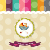 Funny baby shower card Stock Image