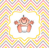 A funny baby shower cover Royalty Free Stock Images
