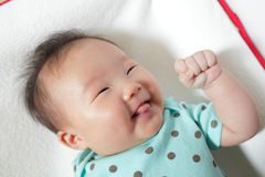 Funny baby smile face close up Royalty Free Stock Photography