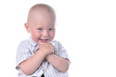 Funny baby smiling Stock Photos