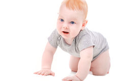 Funny baby, smiling, beautiful baby face close-up Royalty Free Stock Photo