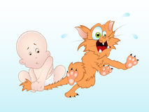 Funny Baby Vector. Creative Design Art of Funny Baby Vector Illustration Stock Images