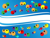 Funny background all eyes on me. Funny colored cartoon background all eyes on me Stock Photo