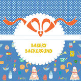 Funny background for the bakery with pattern Royalty Free Stock Image