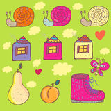 Funny background in bright colors. Cartoon funny vector background in bright colors Stock Photos