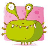 Funny bacteria / funny monster / funny computer vi Royalty Free Stock Photos