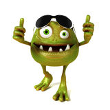 Funny bacteria toon character Stock Photography