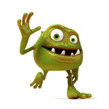 Funny bacteria toon character Stock Image