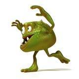 Funny bacteria toon character Royalty Free Stock Photo