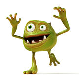 Funny bacteria toon character Royalty Free Stock Image