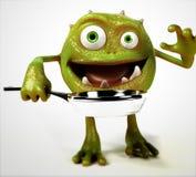 Funny bacteria toon character Stock Photo