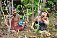 Funny  baked clay dolls Stock Photos